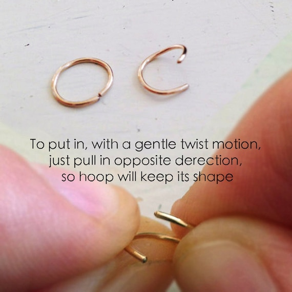 Extra Small Sterling Silver Nose Ring Gold Hoop Etsy