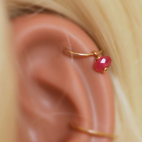 Tragus Helix Daith Top Earring Cartilage Upper Ear Ring Nose Septum Hoop #2
