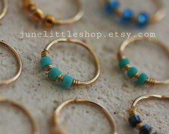 Helix Earring, beaded Helix Ring, Helix Ring, Helix Hoop, cartilage earring, Helix Piercing, Cartilage Hoop, helix jewelry, piercing Helix