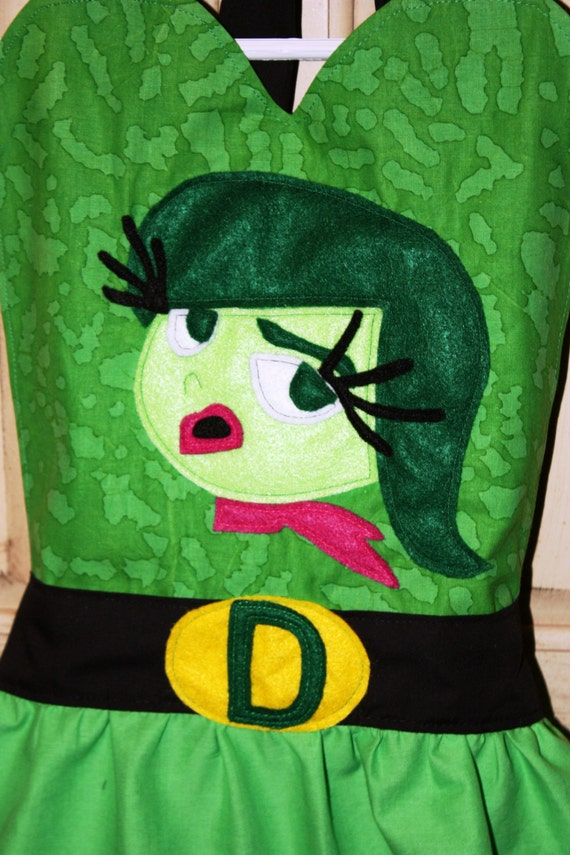 Pixar/'s Inside Out Inspired Disgust Hand Painted Dress Costume