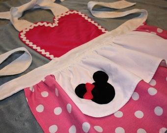 Minnie Mouse Disney Junior Inspired Girls Dress Up Apron