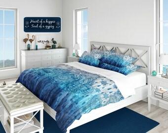 Boho Chic Bedding, Tie Dye Design Comforter, Duvet Cover