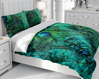 Peacock Comforter Etsy