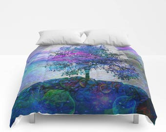 Abstract bedding set etsy sea sunset comforter or duvet cover set twin full queen king bedding abstract seascape landscape tree moon gumiabroncs Choice Image