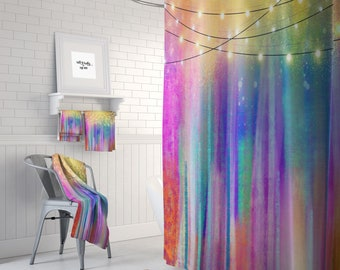 Shower Curtain Northern Nights Gypsy Boho Optional Bath Mat And Towels
