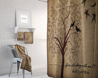 Popular Items For Tree Shower Curtain