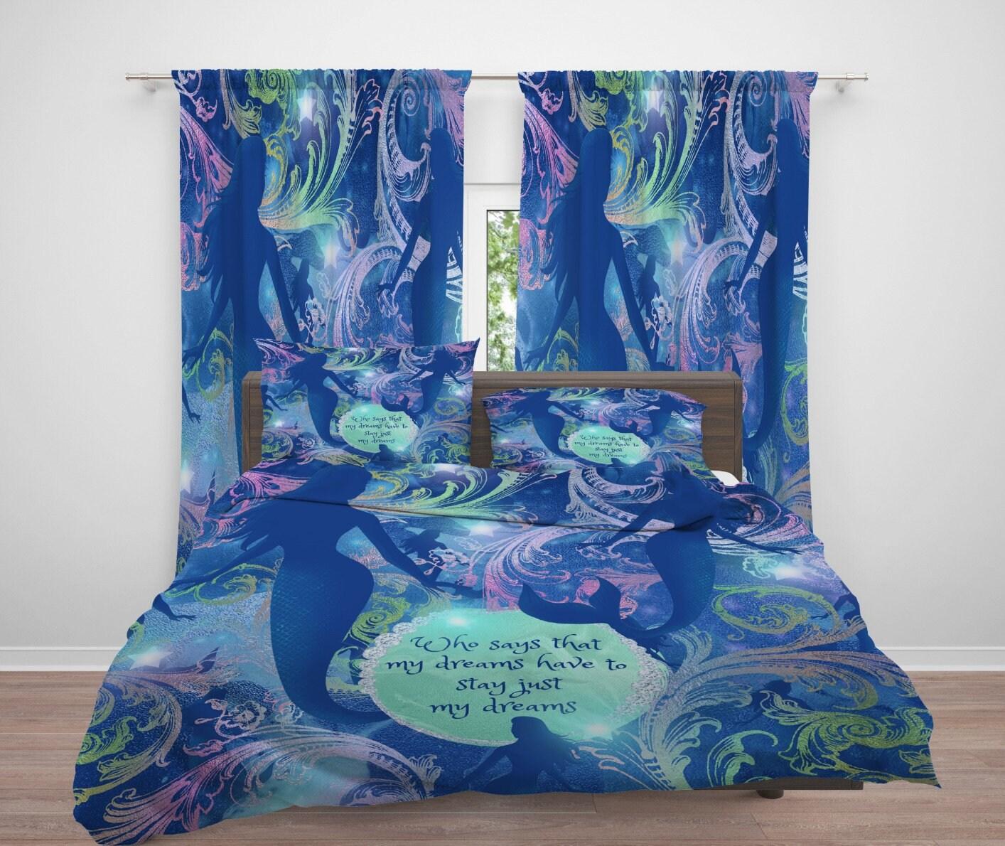 Mermaid Comforter Duvet Cover Dreams Bedding