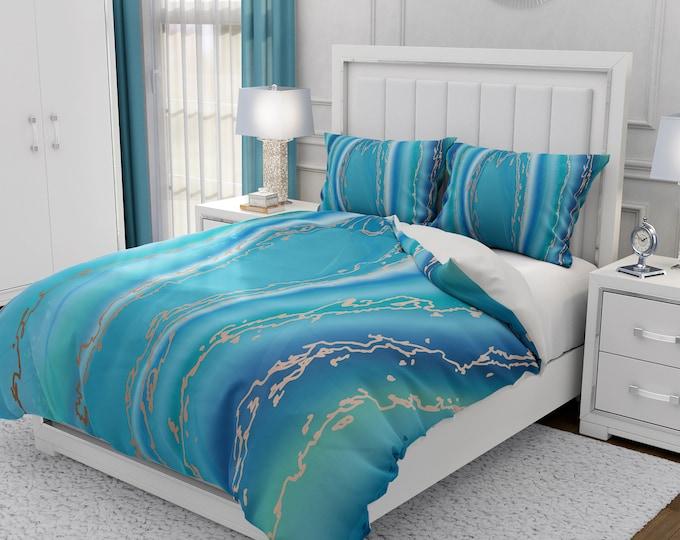 Ocean Marble Bedding Set