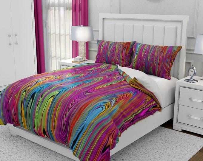 Psychedelic Hippie Swirl Bedding