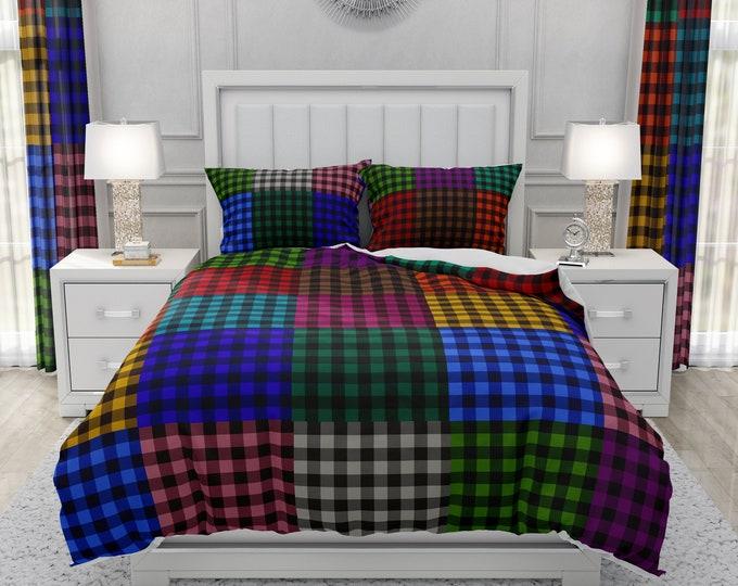 "Buffalo Plaid Bedding Comforter Or Duvet Set ""Color Me Plaid"""