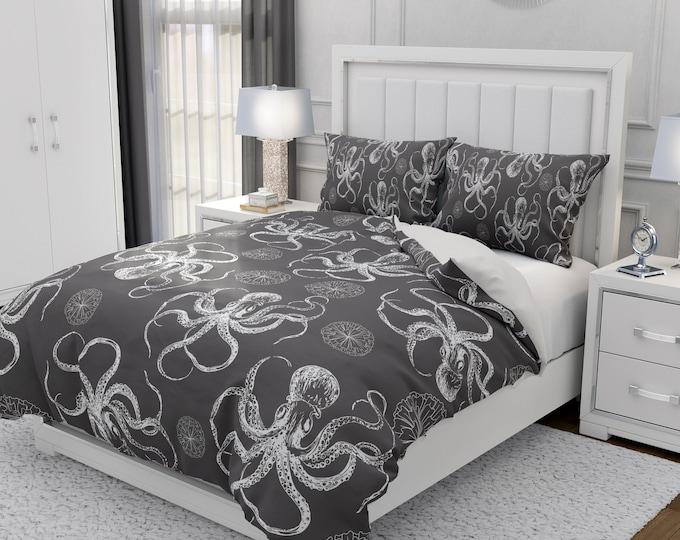 Octopus Bedding Set Choice Comforter or Duvet Cover