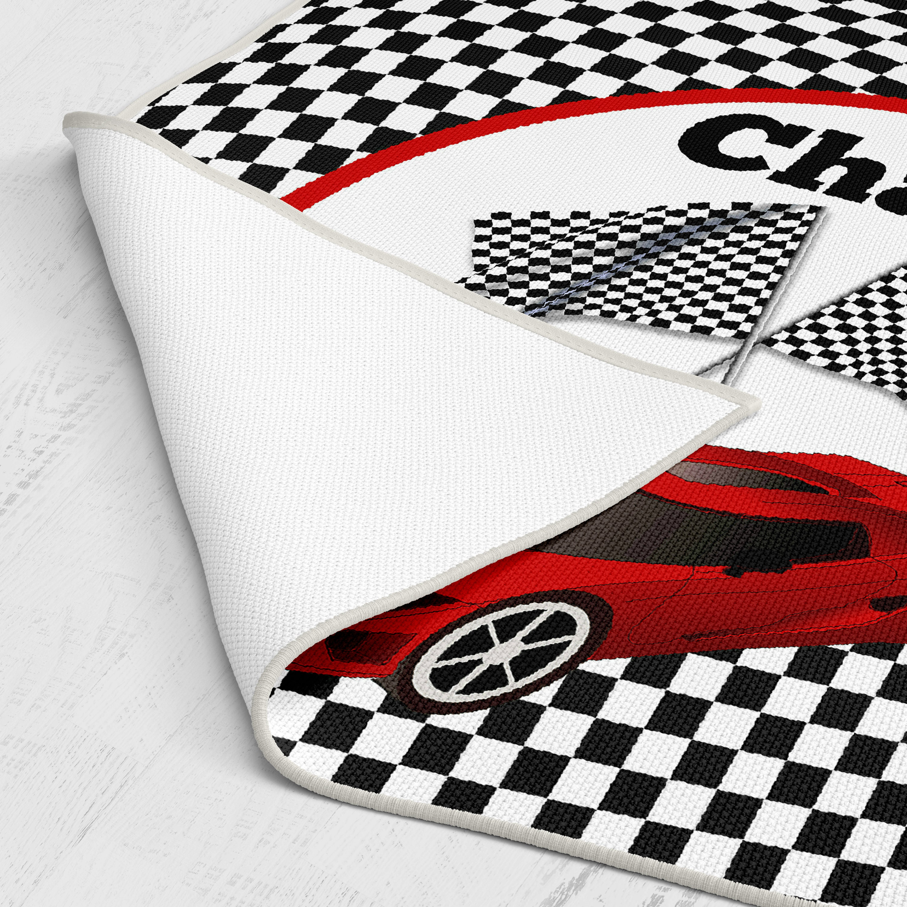 Personalized Race Car Checkered Flag Comforter Or Duvet