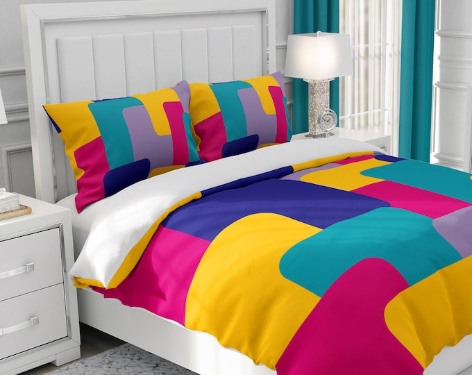 Block 90 Abstract Bedding, Comforter Set or Duvet Cover Set