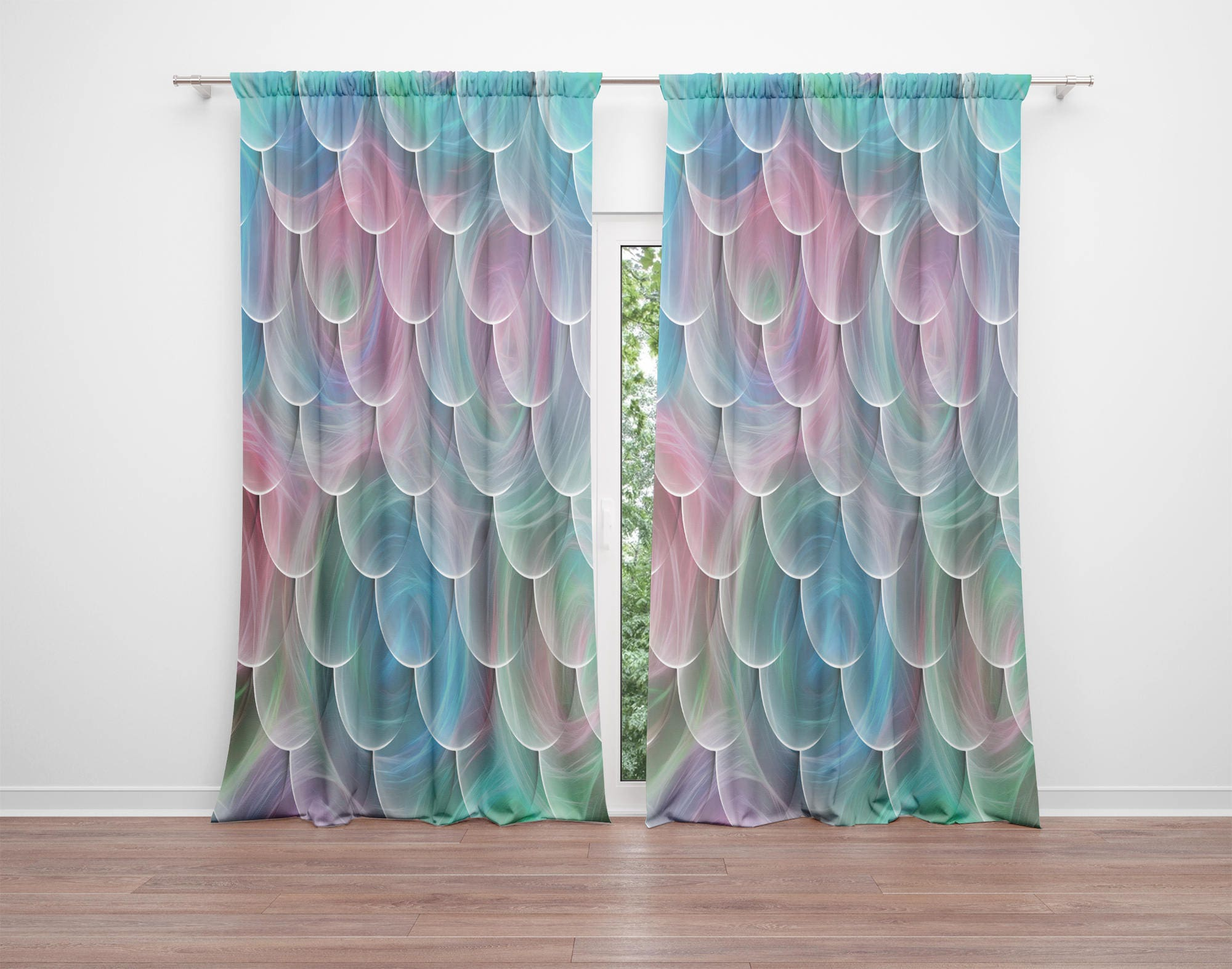 Mermaid Window Curtains