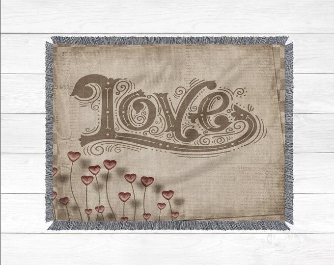 Rustic Boho Cotton Throw Blanket