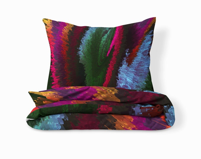 Hippie Mood Comforter, Duvet Cover Pillow Shams Boho Bedding Set