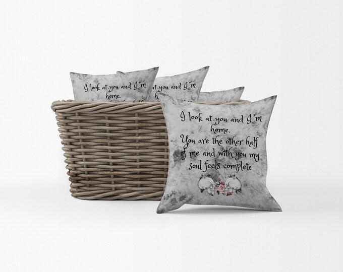 """Sugar Skull Throw Pillow Skeletons  """"Love Letter"""" Sweetheart Spouse Pillows"""