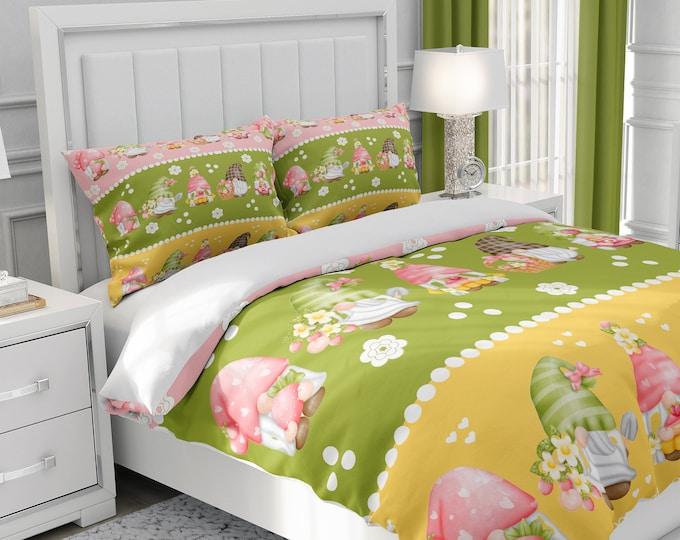 Darling Gnome Bedding Set, Duvet Cover or Comforter Set