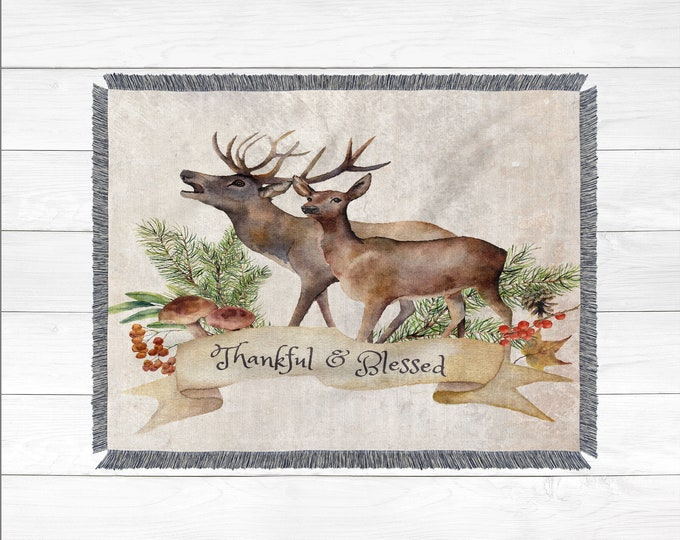 Woodland Throw Blanket