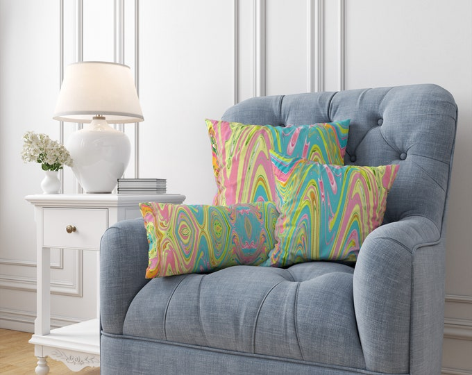 Tropical Swirl Throw Pillows