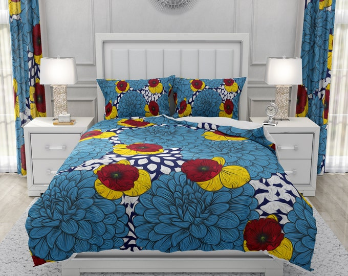 Painted Dahlia Floral Bedding Set Comforter or Duvet