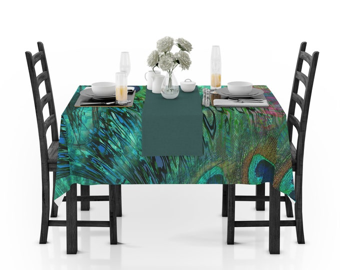 Peacock Abstract Tablecloth