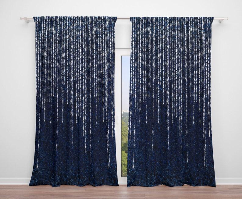 on sale 7788b 887bc Window Curtains, Indigo Night , Valance , Custom Sizes Available, Boho
