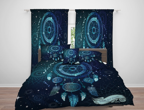 Dream Catcher Comforter Magnificent Dream Catcher Comforter Or Duvet Cover Dreamcatcher Blue Etsy