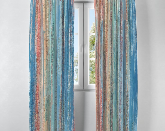 Beach Gypsy Window Curtains Options, Sheer, Lined, Blackout, Valance