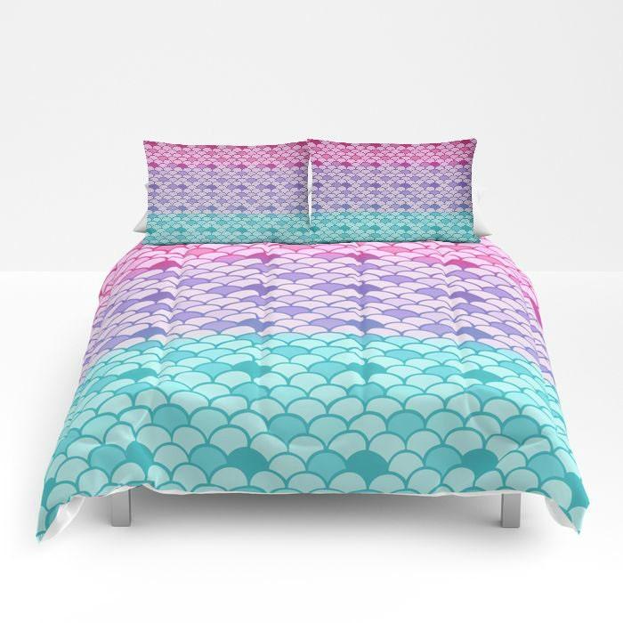 Mermaid Scales Comforter Or Duvet Cover Set Twin Full