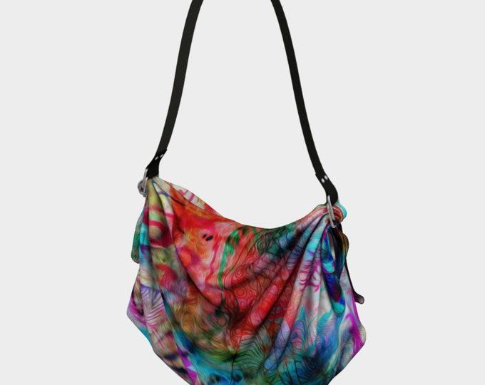 Boho Oragami Bag, Hippie Bag, Hobo Bag, Tie Dye Bag