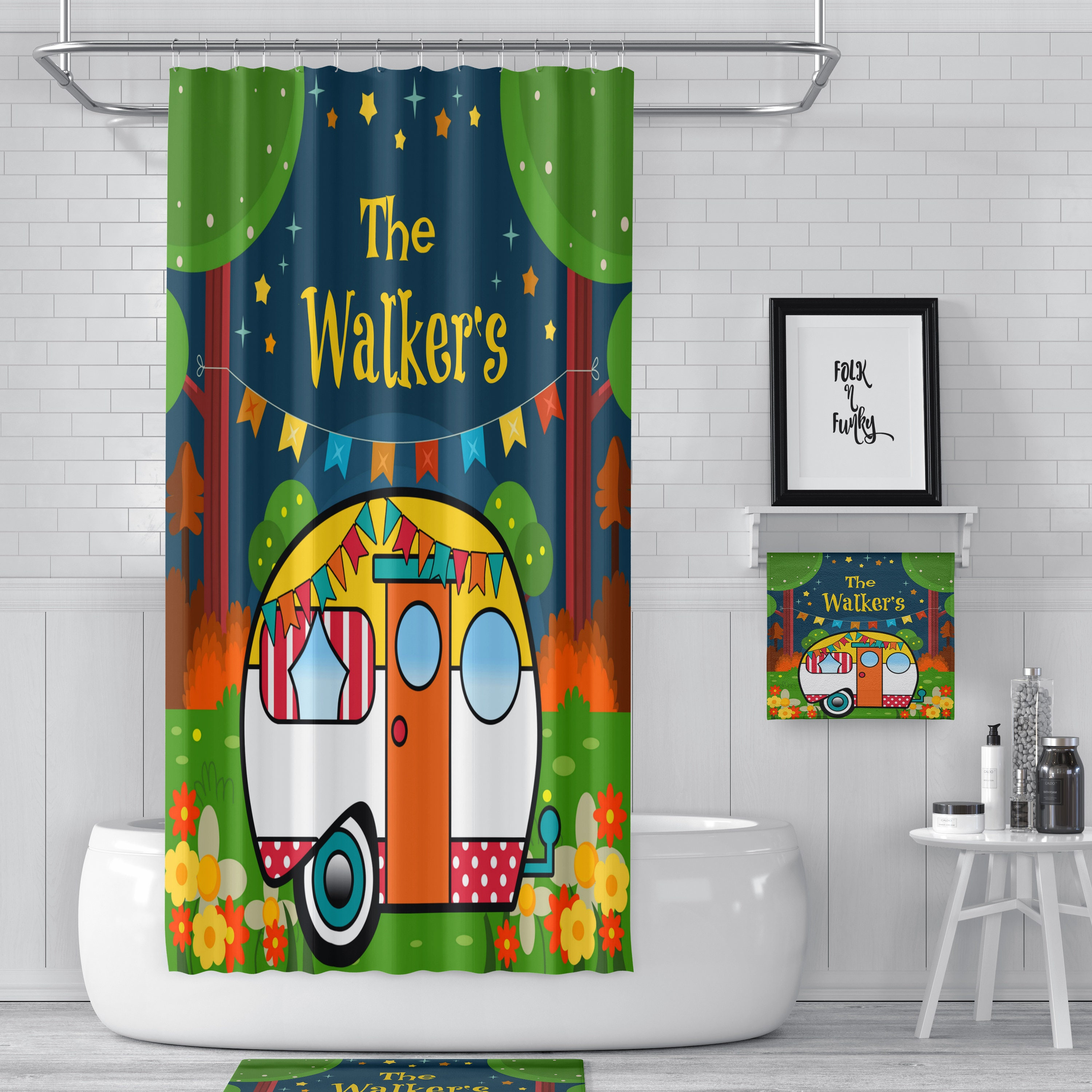 RV Sized Shower Curtain