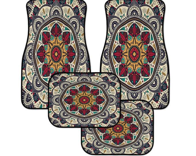 Hippie Boho Mandala Car Mats