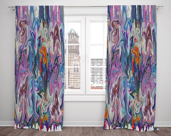 Boho Chic Window Curtains Funky Elegance