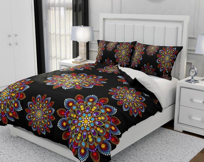 Boho Bedding Mandala Comforter or Duvet Cover Set