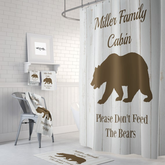 Rustic Bathroom Decor Shower Curtains  from i.etsystatic.com