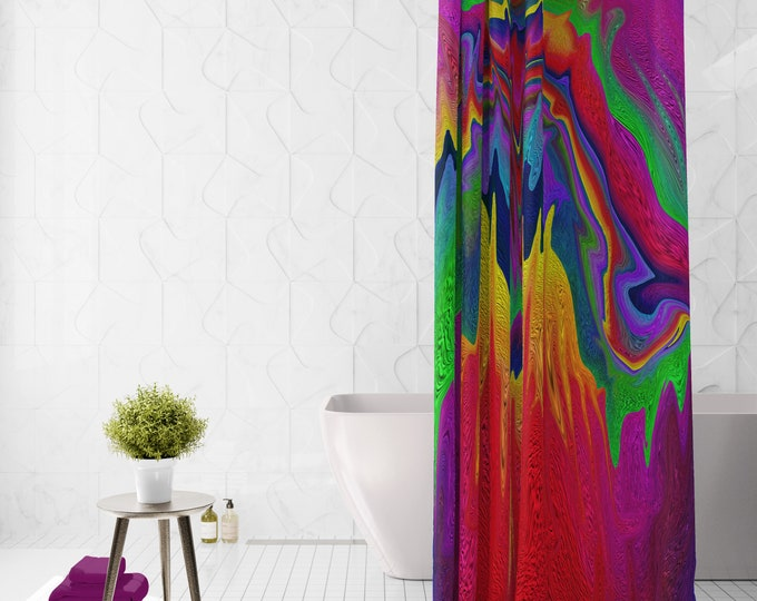 Boho Hippie Shower Curtain Retro Abstract Wild One, Options for Set, Bath Towel, Mat , Hand Towels, Wash Cloth