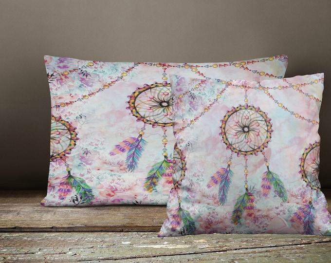 Boho Chic Throw Pillows ,  Dream Catcher Square , Rectangle , Many sizes