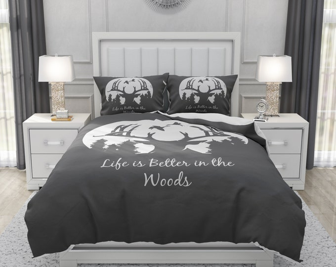 Rustic Woodland Deer Bedding Set