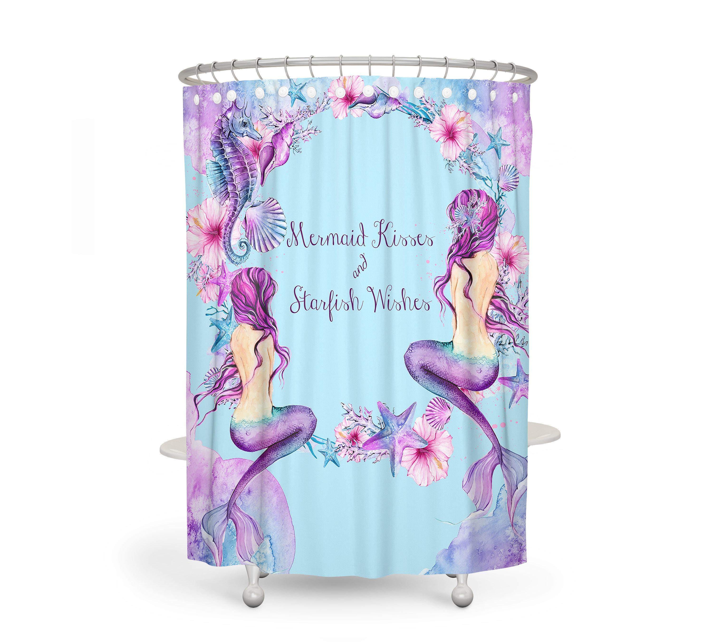 Purple Mermaid Shower Curtain