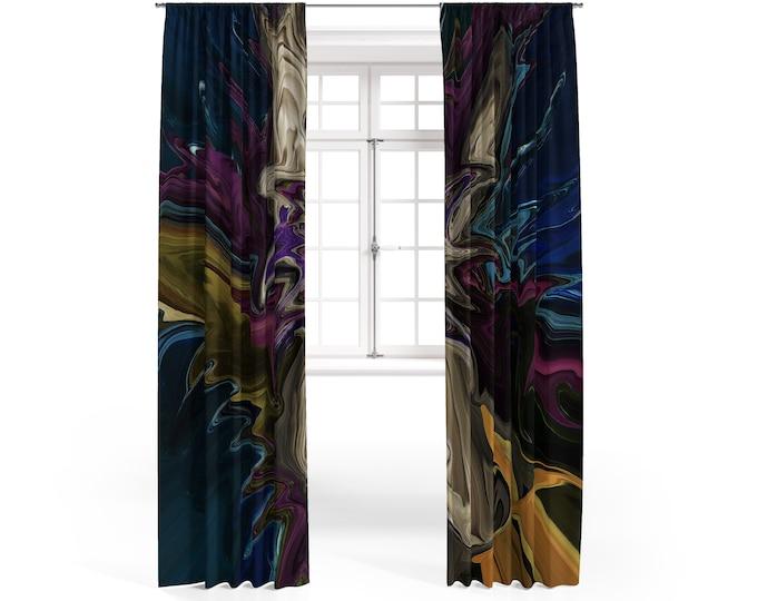 Mystical Waters Boho Window Curtains