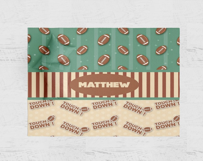 Personalized Football Theme Rug