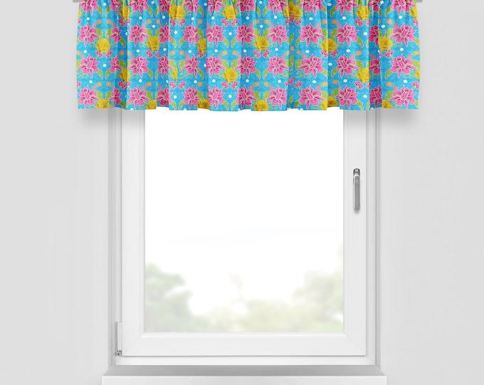 Rv Camper Glamping Custom Curtains, Pink Lily , Camper Makeover Decor