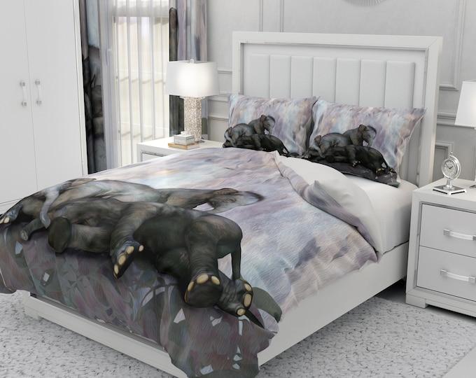 Sleepy Elephant Comforter, Duvet Cover, Pillow Shams