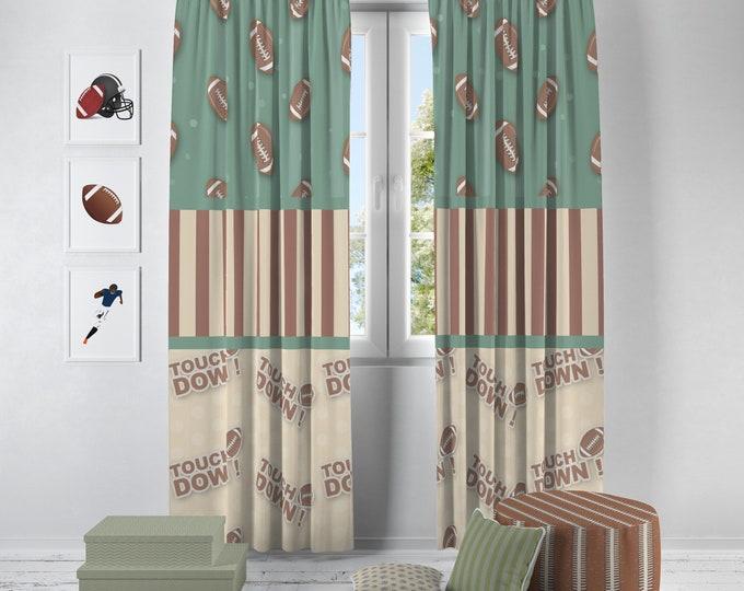 Football Theme Window Curtains