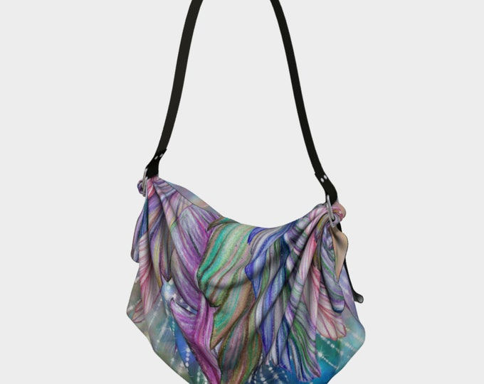Boho Oragami Bag, Hobo Bag, Large Purse,  Tote Bag, Shopping Bag