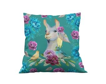 Pretty Llama Throw Pillow, Accent Pillows
