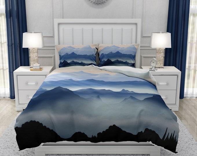 Blue Mountainscape Bedding