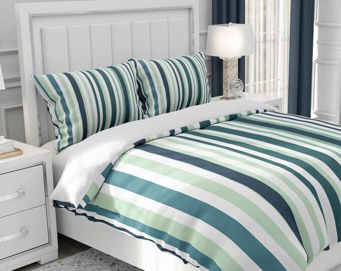 Tuckers Striped Bedding, Comforter Set or Duvet Cover Set