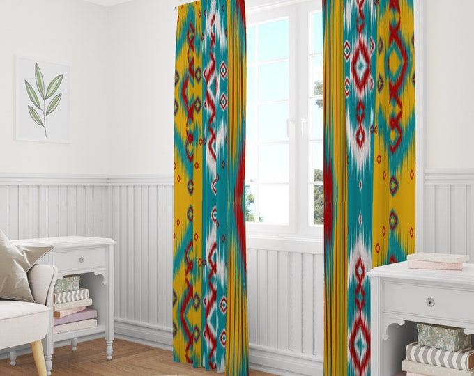 Southwest Ikat Window Curtains